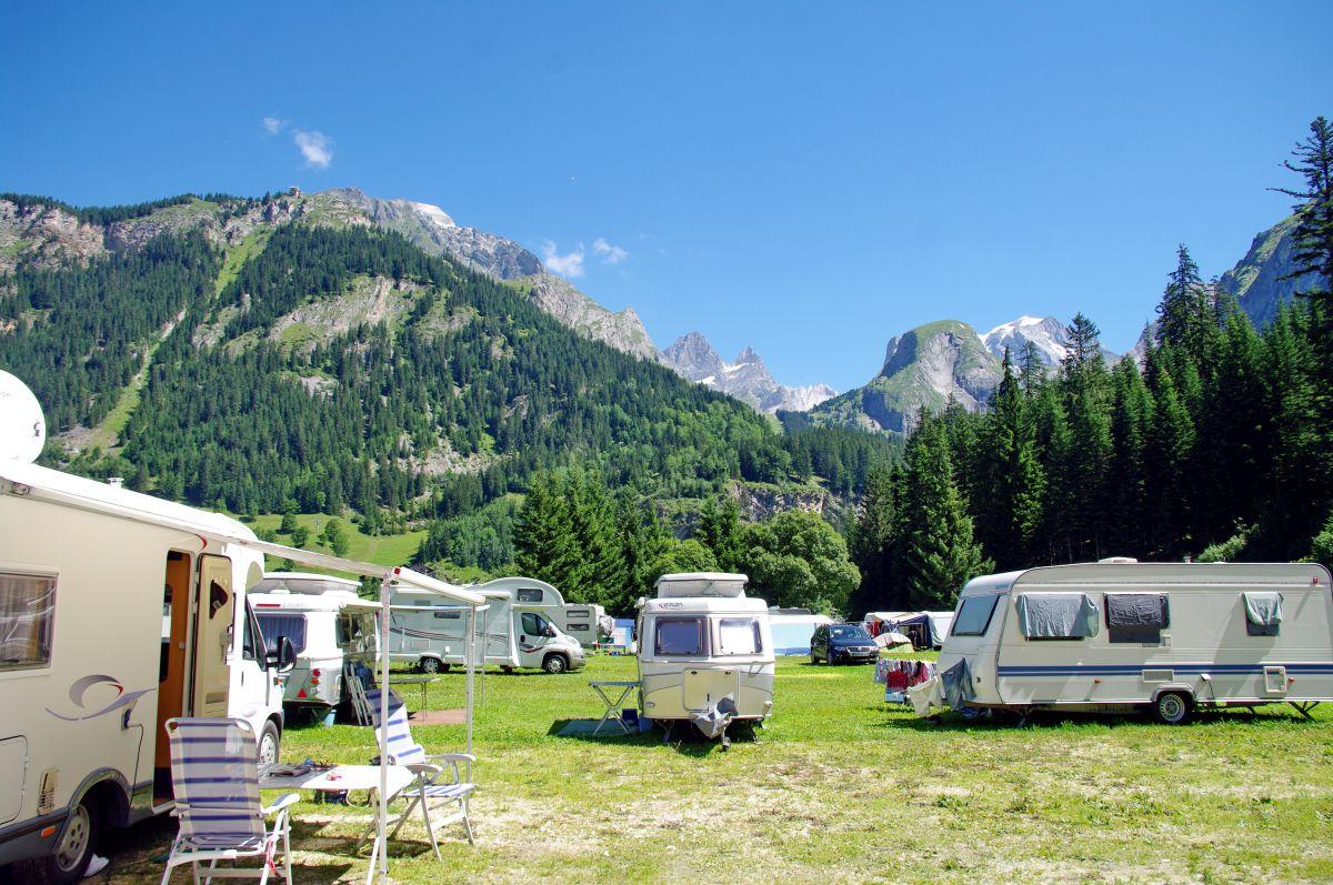 Campingplatz in den Bergen