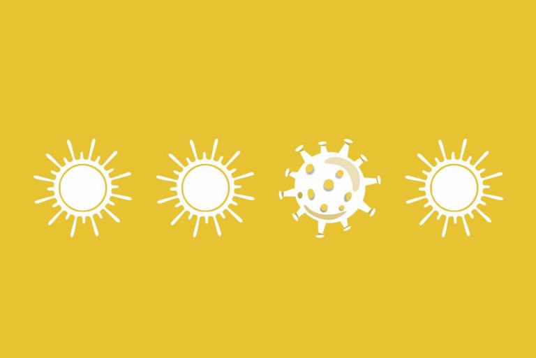 Sonne und Coronavirus