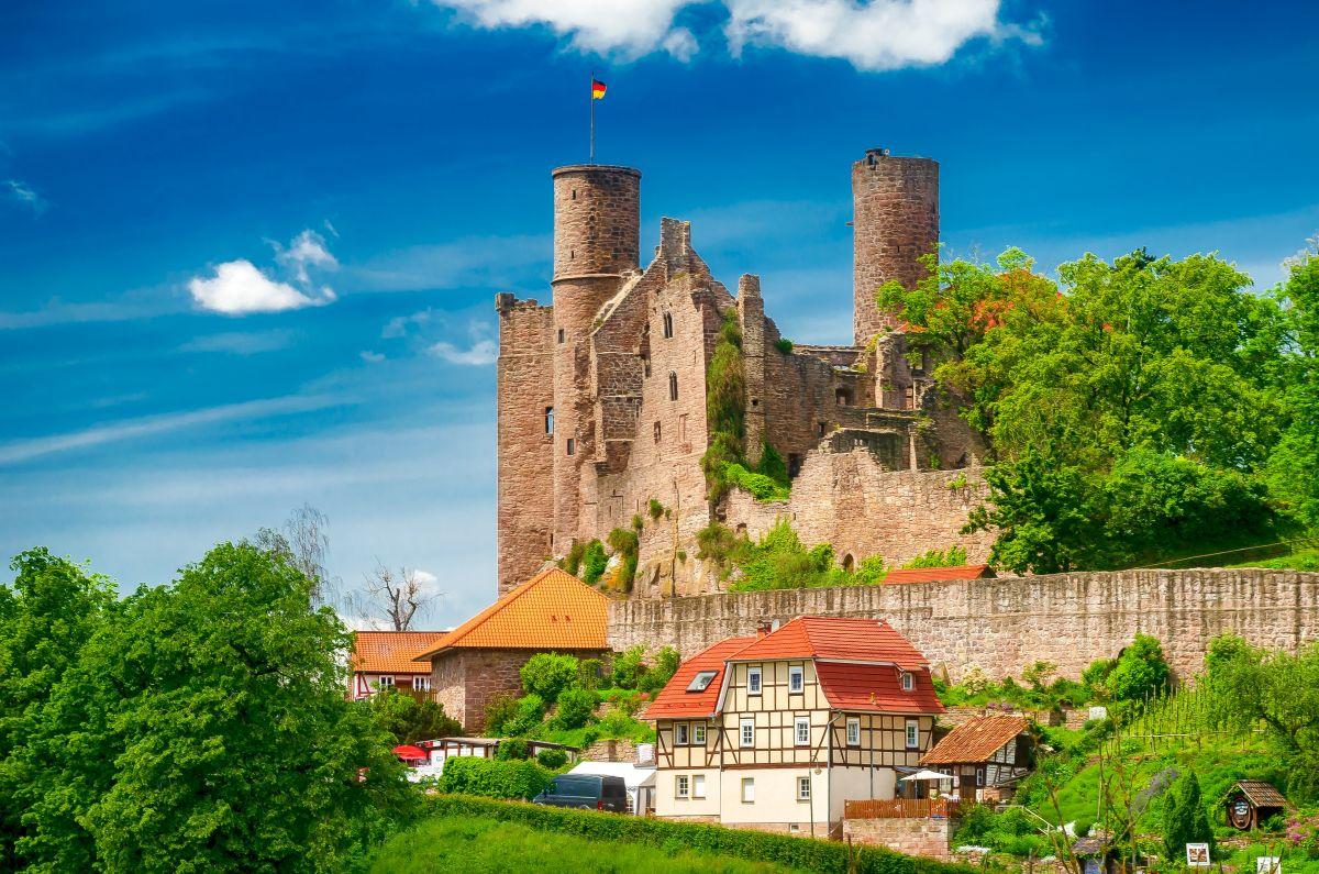 Burg Hanstein bei Bornhagen, Eichsfeld, Thüringen