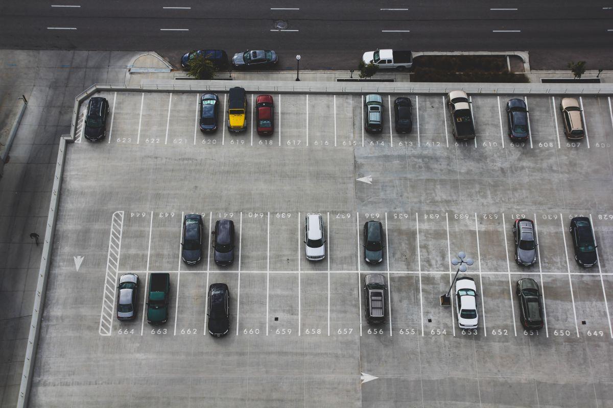 Parkplatz Vogelperspektive