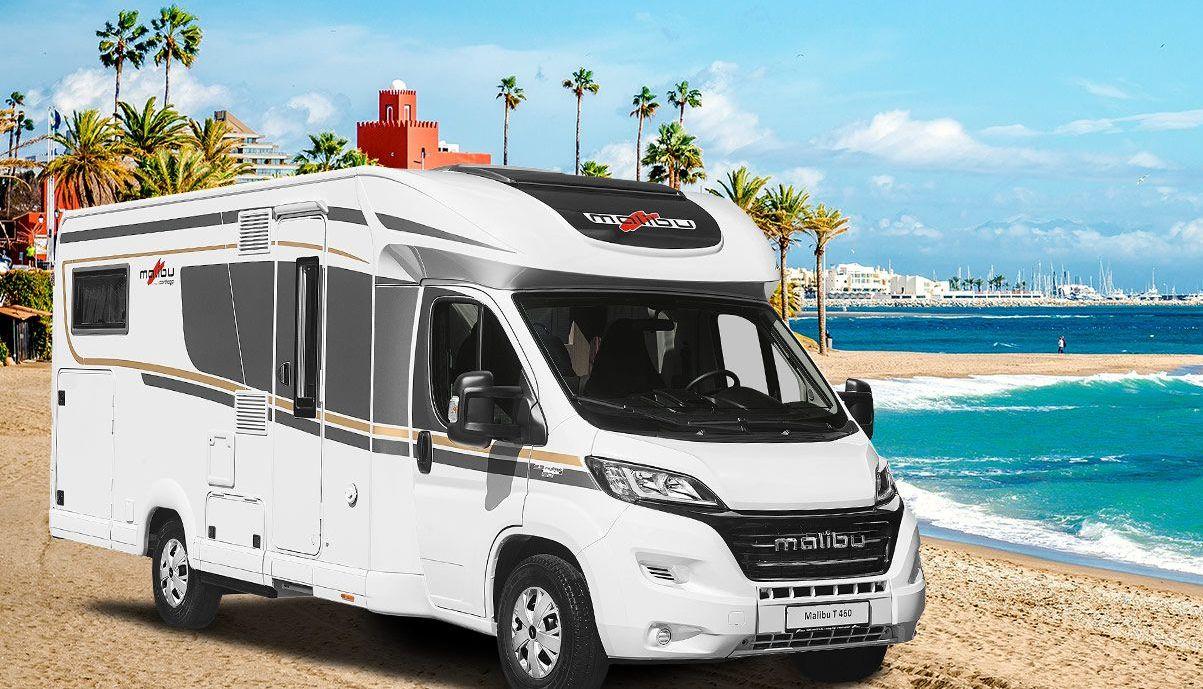 Malibu Wohnmobil teilintegriert am Strand